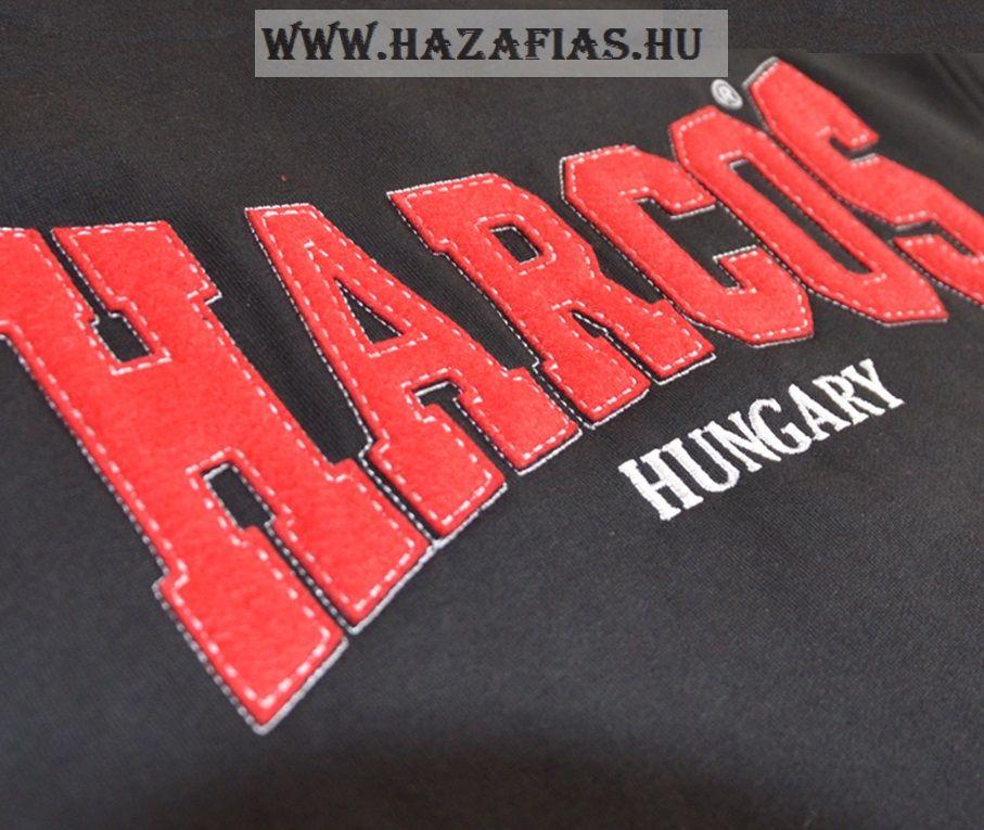 Magyar HARCOS kapucnis zipzáras pulóver fehér csíkkal 5a45e2e099