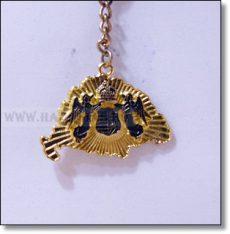 Kulcstartó,Angyalos,arany-kétoldalas