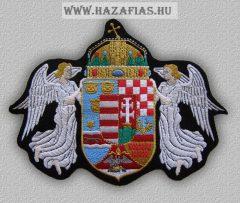 Felvarró-Angyalos címer nagy (20 x 15 cm)
